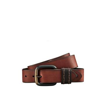 Stitched Keeper Leather Belt