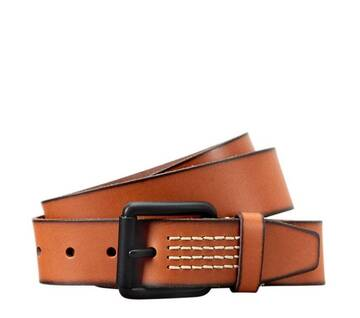 Men's Quad-Stitch Buffalo Leather Belt