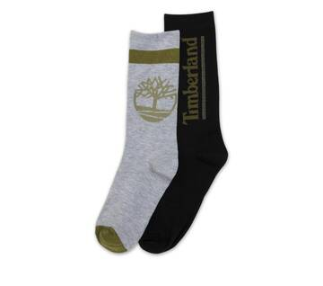 Men's Two Pack Crew Logo Socks