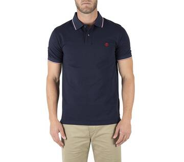 Men's Millers River Slim Fit Tipped Pique Polo Shirt