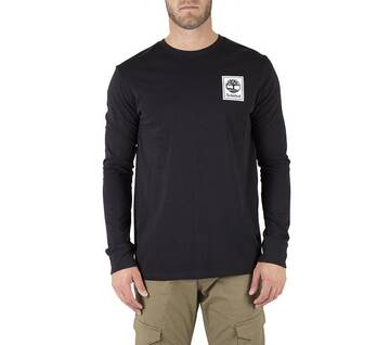 Men's Stacked Logo Long Sleeve Tee