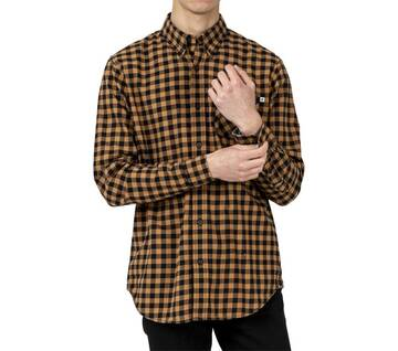 Men's Long Sleeve River Brushed Printed Shirt