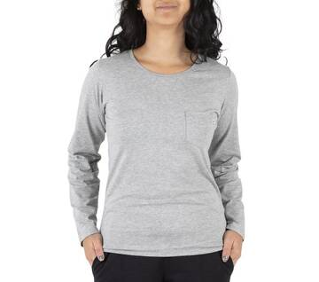 Women's Back Hem Logo Long Sleeve Tee